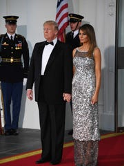 President Trump and first lady Melania Trump prepare