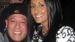 Stephanie Weber poses with her father, David Perez,