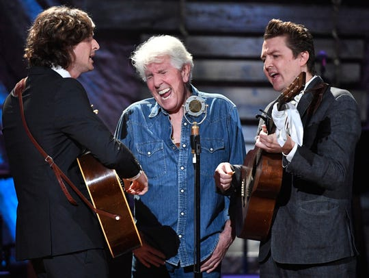 Graham Nash performs with the Milk Carton Kids at the