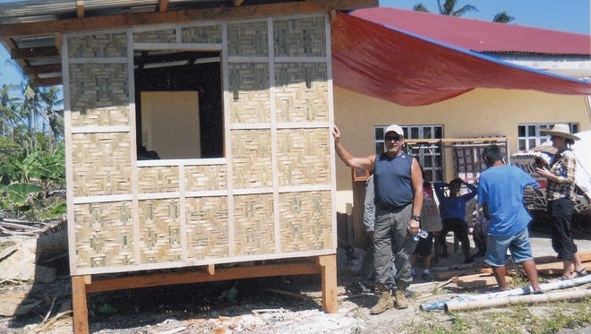 An example of one of the 300 houses Ray Arana helped to construct in the Philippines.