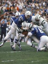 MIAMI, FL - JANUARY 12:  Baltimore Colts linebacker