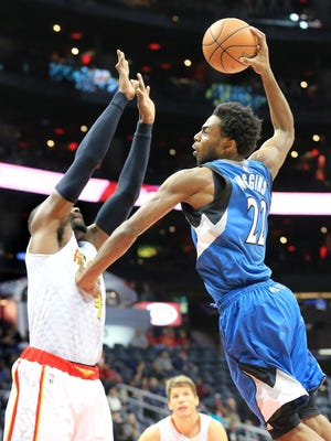 Minnesota's Andrew Wiggins scored a career-high 33 points on Monday.