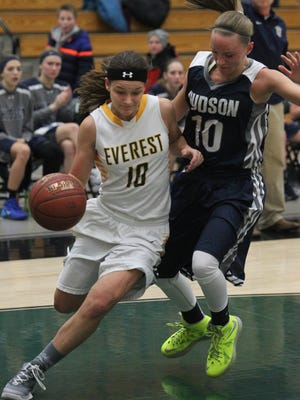 Taylor Petit is averaging 12.6 points and six rebounds a game so far this year for the D.C. Everest girls basketball team
