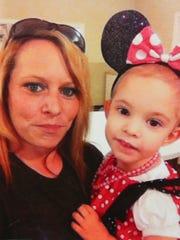 Jolene Berger-Bowman, left, shown with her sister's granddaughter, Summer.