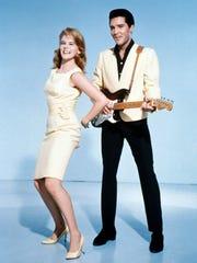 "Actress Ann-Margret starred with rock star Elvis Presley in ""Viva Las Vegas"" in 1964."