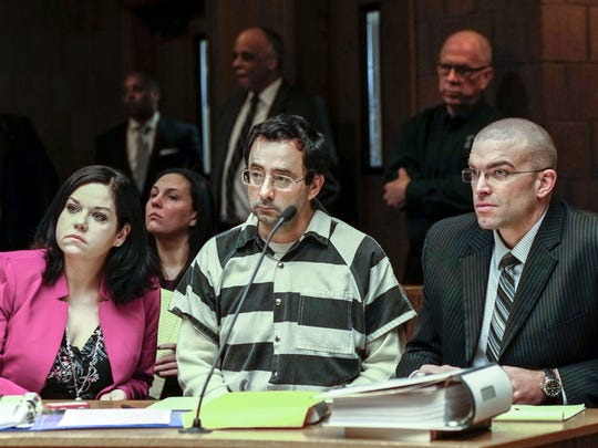 Dr. Larry Nassar and his attorneys, Shannon Smith and