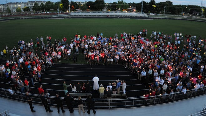 West Lafayette comes together to mourn the loss of Christian Burns.