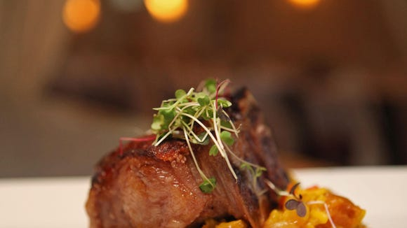 Lamb porterhouse at The Gables at Chadds Ford Restaurant last year.