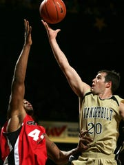Dan Cage played on two NCAA Sweet 16 teams and two NIT teams at Vanderbilt. He is now on the coaching staff.