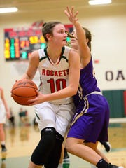 Oak Harbor's Logan Harris reached 1,000 points for her career Tuesday.