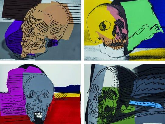 "Andy Warhol, ""Skulls,"" 1976."