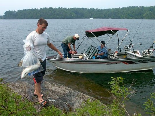 Anglers at Kingsland Bay State Park in 2006. Boaters