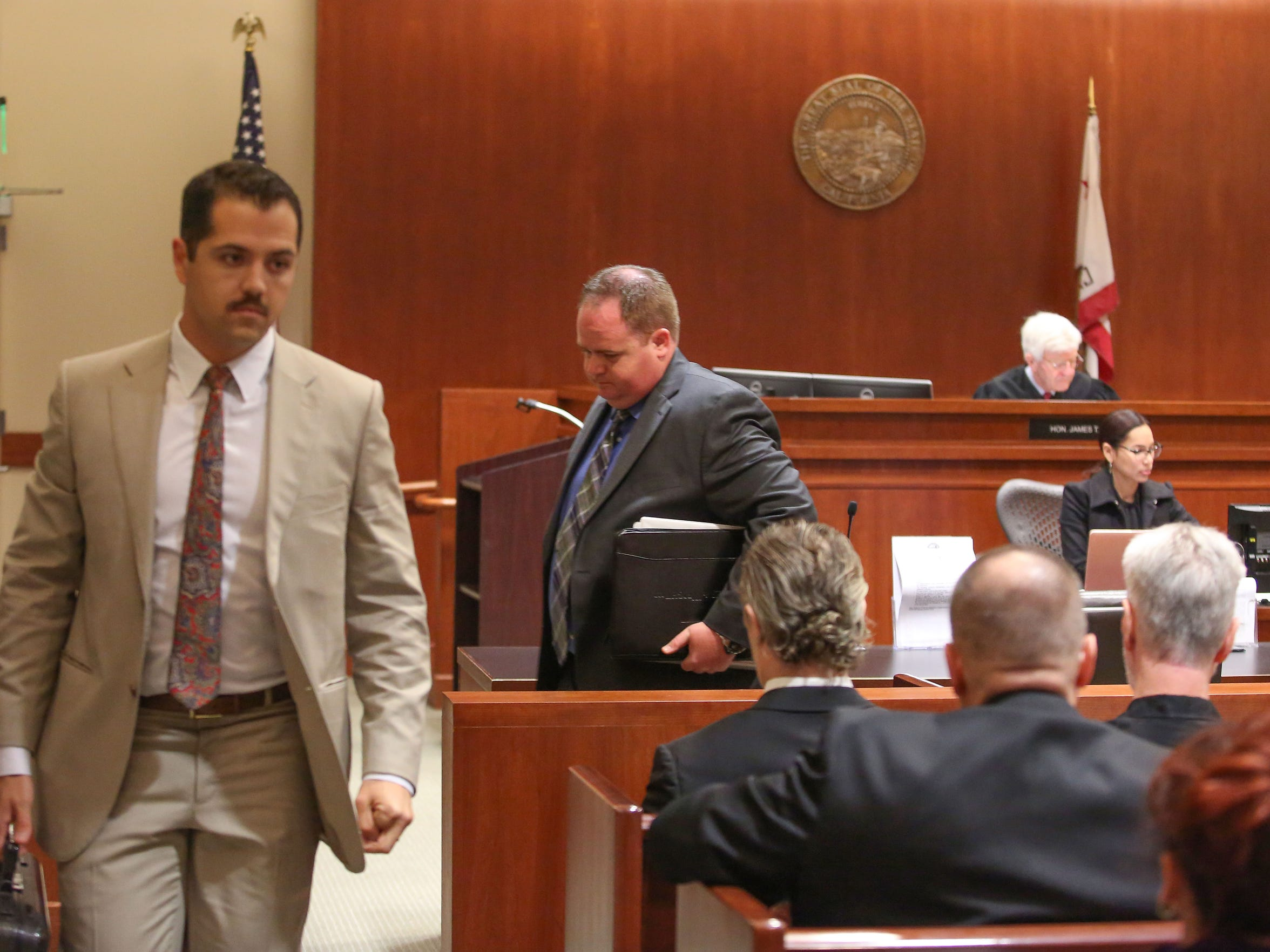 Attorney Shaun Sullivan, left, who is challenging Cesar