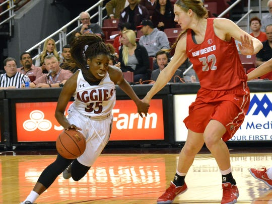 New Mexico State guard Moriah Mack and the Aggies open