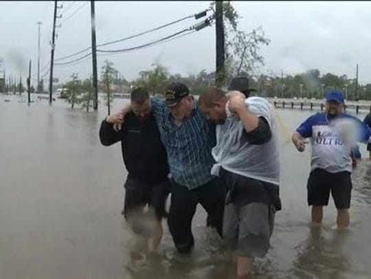 Volunteers are out in force to help Texas residents