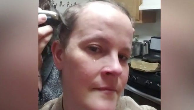 She shaved her head after chemo and alopecia left her with bald spots. She was nervous about her decision until her daughter and boss shaved their heads, too!