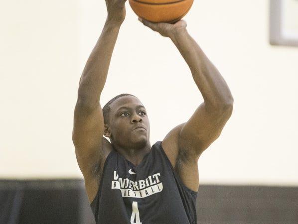 Vanderbilt freshman Maxwell Evans is a high-scoring guard.
