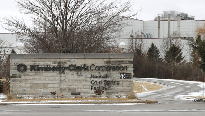 Kimberly-Clark Corporation located at 1050 Cold Spring Road, Tuesday, January 23, 2018, in Fox Crossing, Wis.