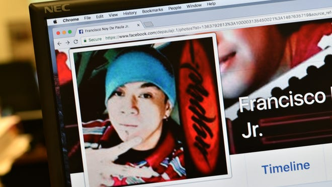 Francisco Noy De Paula Jr.'s Facebook page shows him posing for the camera in his profile photo.