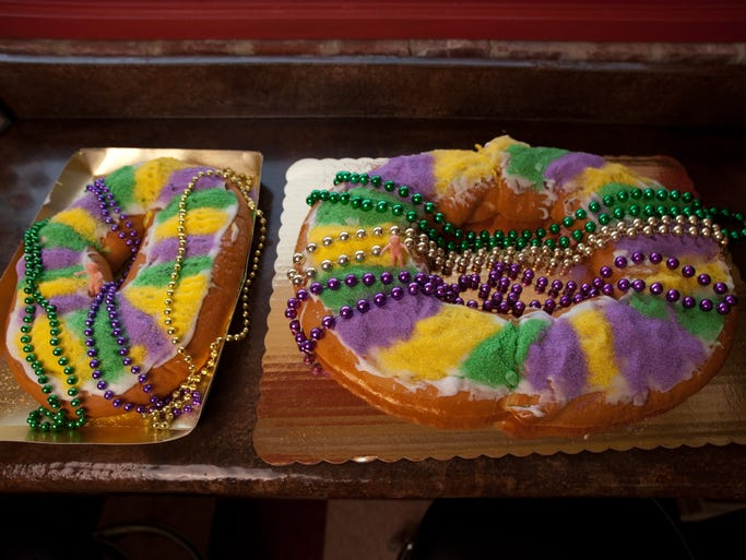 The only genuine French bakery in Cajun country since 1967, Poupart bakes both King Cakes -– with nut, fruit and/or cream or half-and-half fillings -– and the original French galette des Roi, a plain round puff pastry filled with almond cream.