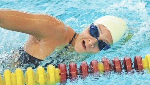 Mercy senior Katie Minnich enters this weekend's D-1 state meet as the two-time defending backstroke champion.