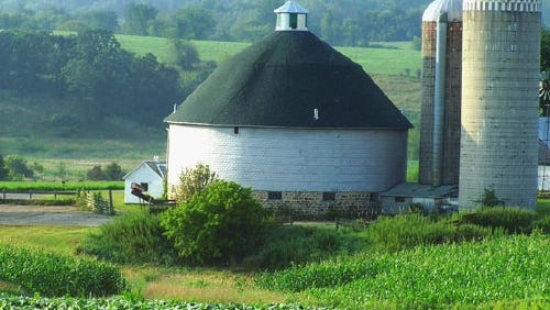 One of the Many Round Barns of Vernon County