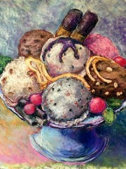 """""""Plate of Goodies"""" from Rebecca Lewis Smith's """"Just Desserts"""" series."""