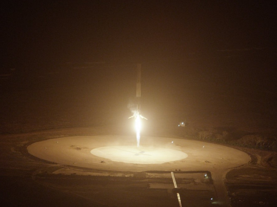 SpaceX's Falcon 9 booster lands at Cape Canaveral Air