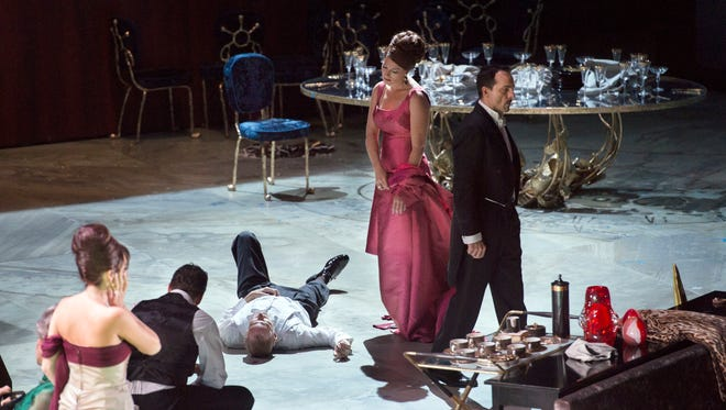 """A scene from """"The Exterminating Angel"""" opera by Thomas Ades."""