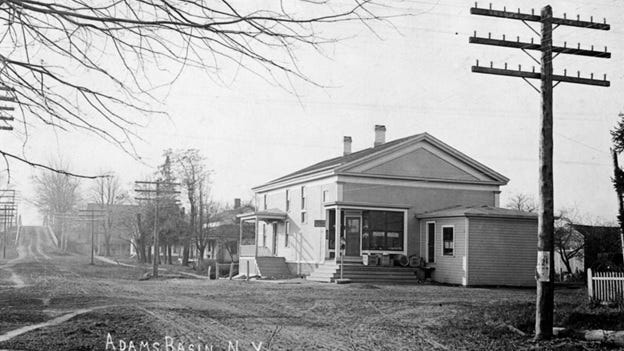 The Adams Basin store and post office is seen in this circa 1910 photo.