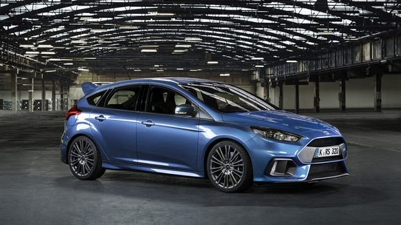 The hot new Focus RS has helped boost Ford's sales of high-profit performance models in Europe.