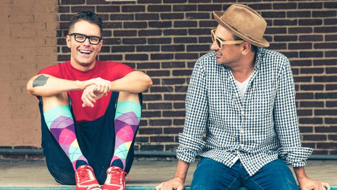 The Raging Idiots, featuring nationally syndicated radio host Bobby Bones, left, is set to perform at 8 p.m. Feb. 12 at Downtown's Plaza Theatre. Tickets go on sale at 10 a.m. Friday.