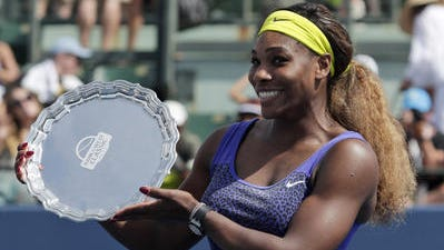 Serena Williams appears in this Desert Sun file photo. She announced she will participate in the BNP Paribas Open tennis tournament.