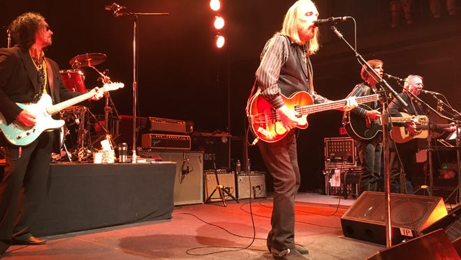 Mudcrutch perform June 6, 2016 at 930 Club in Washington, D.C. Seen are Mike Campbell, at left, Tom Petty, Randall Marsh (drums), Tom Leadon (guitar,) and Herb Pedersen.