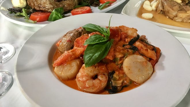 The pasta special with filet mignon, scallops and jumbo shrimp is a Hot Dish at Tuscan Bistro in Bonita Springs.