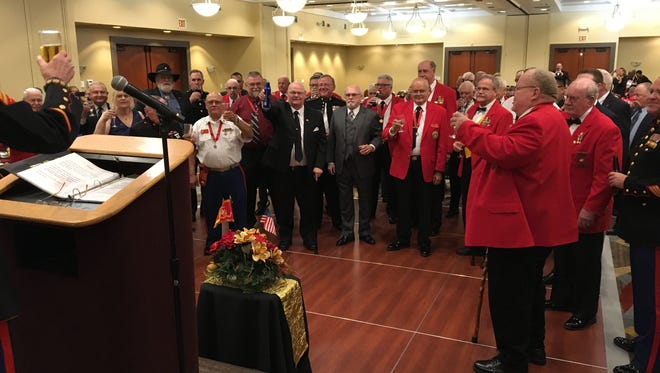 A toast in honor of the Marine Corps Nov. 10 birthday, by the Marine Corps League's Old Breed Detachment.