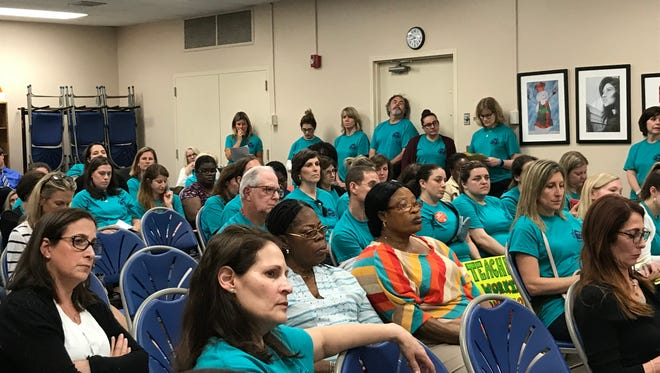 Members of the Millburn Education Association attended a meeting on June 4, 2018 to speak out about their anger because a settlement hasn't been reached for their contract after almost a year of negotiations.
