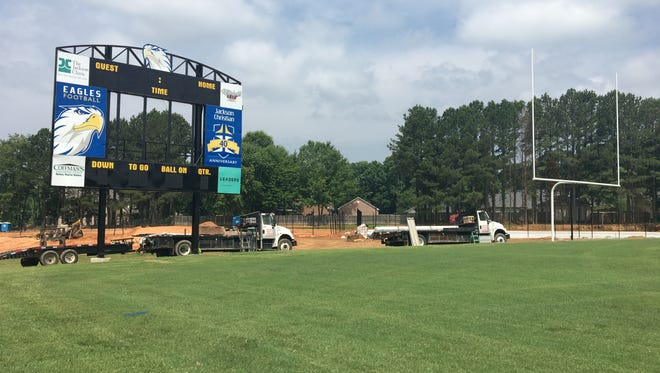 Jackson Christian School's football field will go from natural grass to turf by August.
