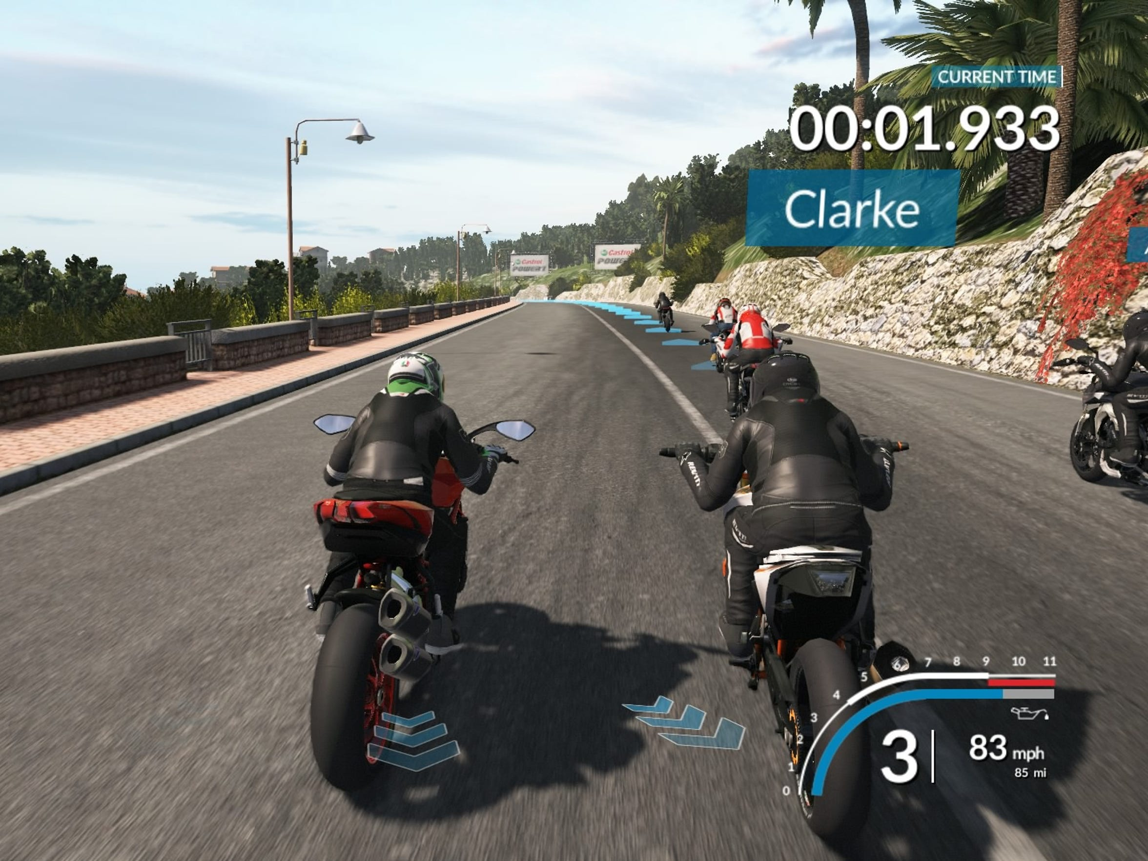 RIDE lets you race a wide variety of motorcyles not just on the track but the streets as well.