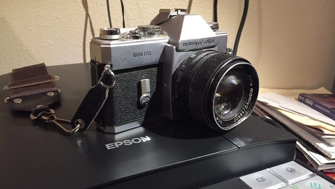 This combination of a Mamiya/Sekor film camera (complete with scratches, dust and dents) and an Epson flatbed scanner has provided me with a renewed joy of an analog-to-digital process.