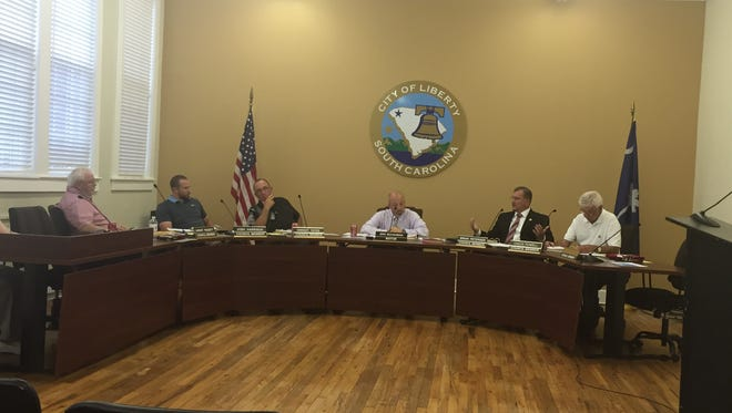 Liberty City Council in session Monday.