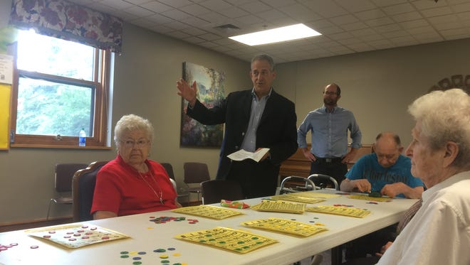 Russ Feingold made a campaign stop at an assisted living home in Green Bay.