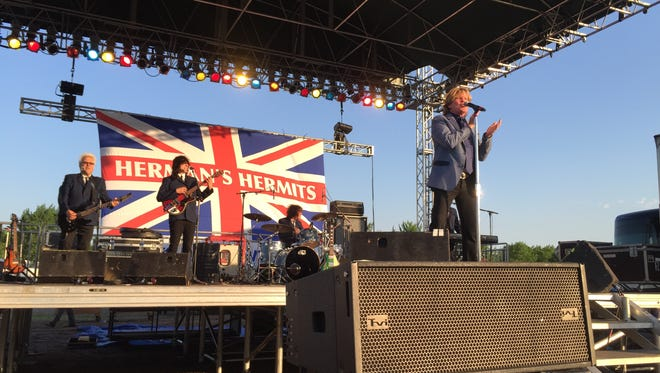 Herman's Hermits featuring Peter Noone perform June 24, 2016, at Liberty Block Party in St. Cloud.