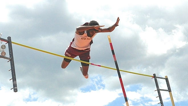 New Paltz's Dagi Tadesse won the Division II pole vault at the New York State track and field championships Friday.