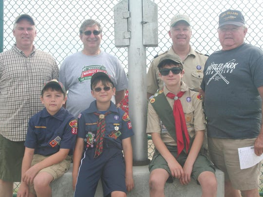 Alec Olsen, Grant Martin and Colin Olsen of Cub Scout