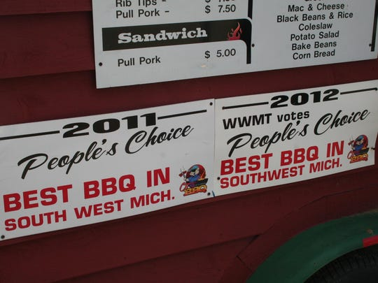 O.T.'s Up-N-Smoke provides award-winning barbecue.