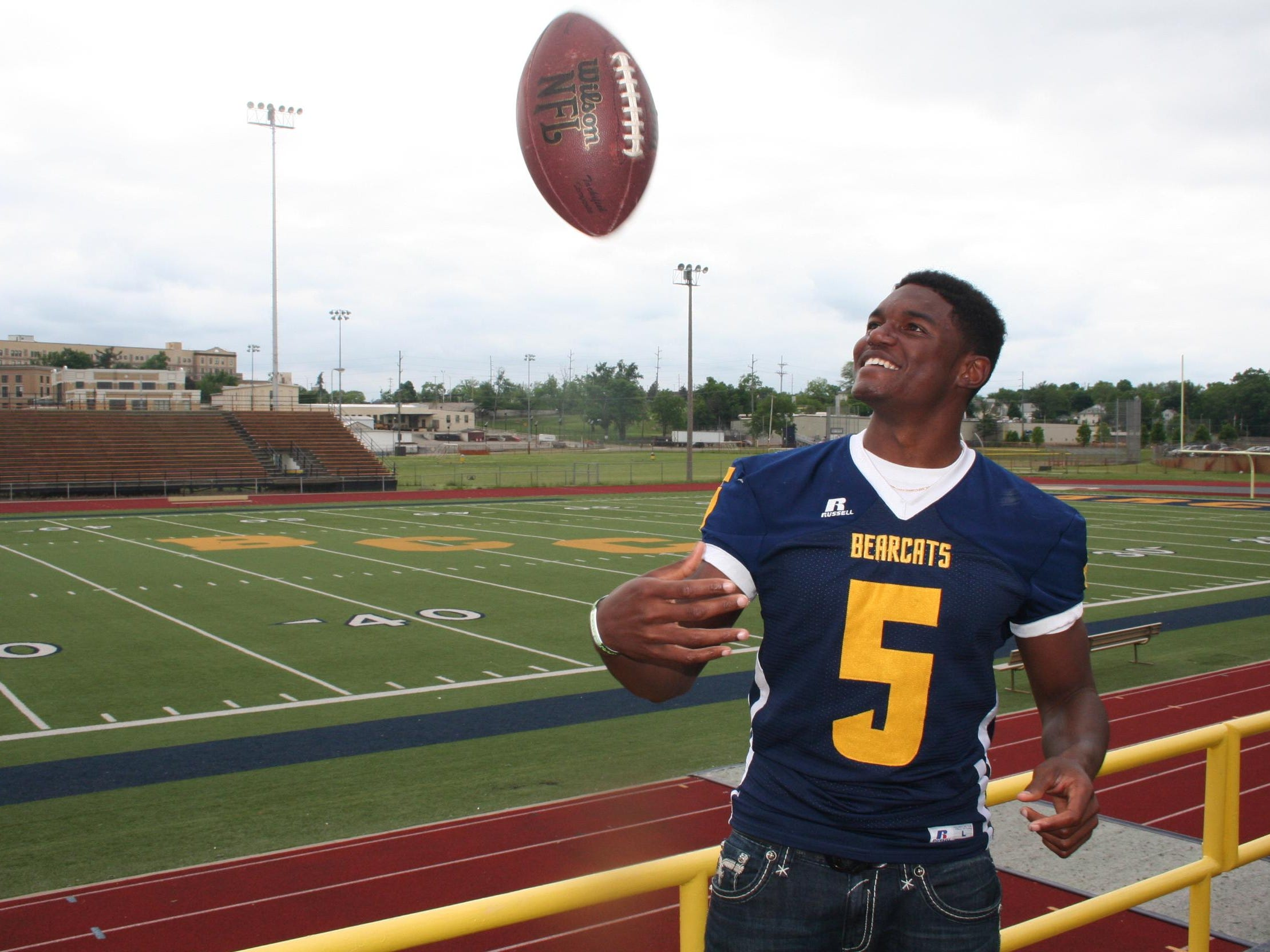 Battle Creek Central's Brandon Randle is a verbal commit to play football at Michigan State.