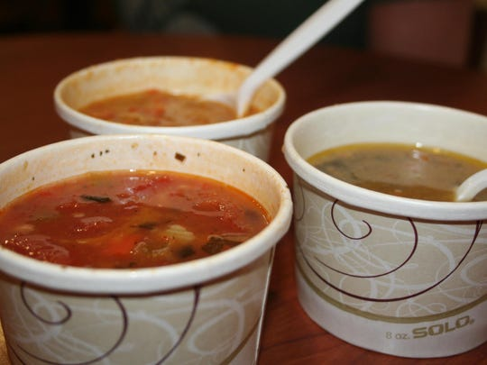 The soup bar at Horrocks Farm Market includes up to a dozen choices of soups at a time, available in take-home containers to enjoy during January, which is Soup Month.