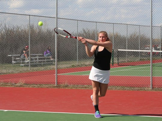 Dakota Dosch was 25-3 while playing No. 1 singles for the Cut Bank Wolves in the spring of 2017.