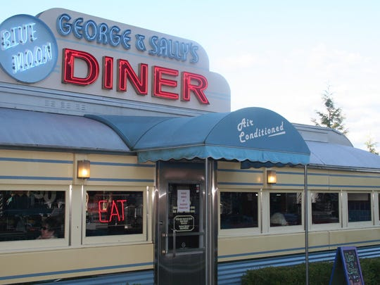 George & Sally's Blue Moon Diner at Gilmore Car Museum.